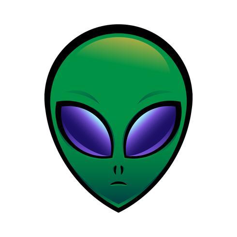 Alien hoofd vectorillustratie