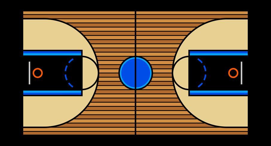 Vektor illustration av en hårdträ basketboll