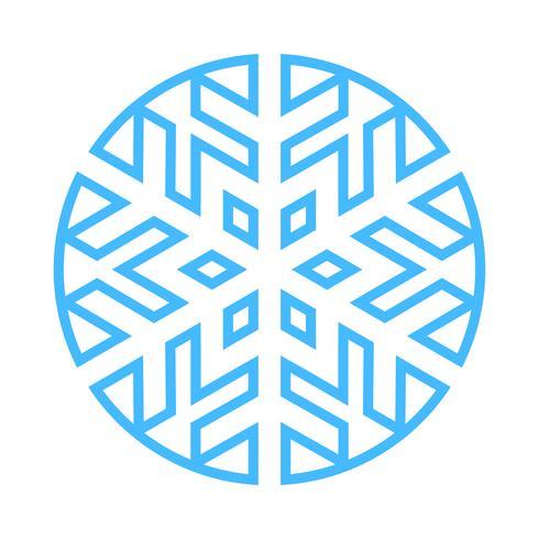Sneeuwvlok Vector Icon