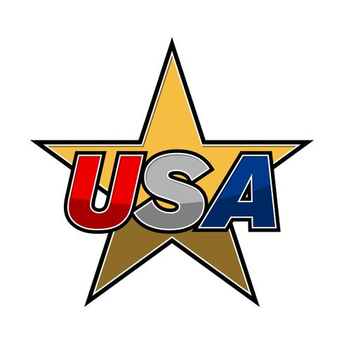 Icono de vector de texto de Estados Unidos