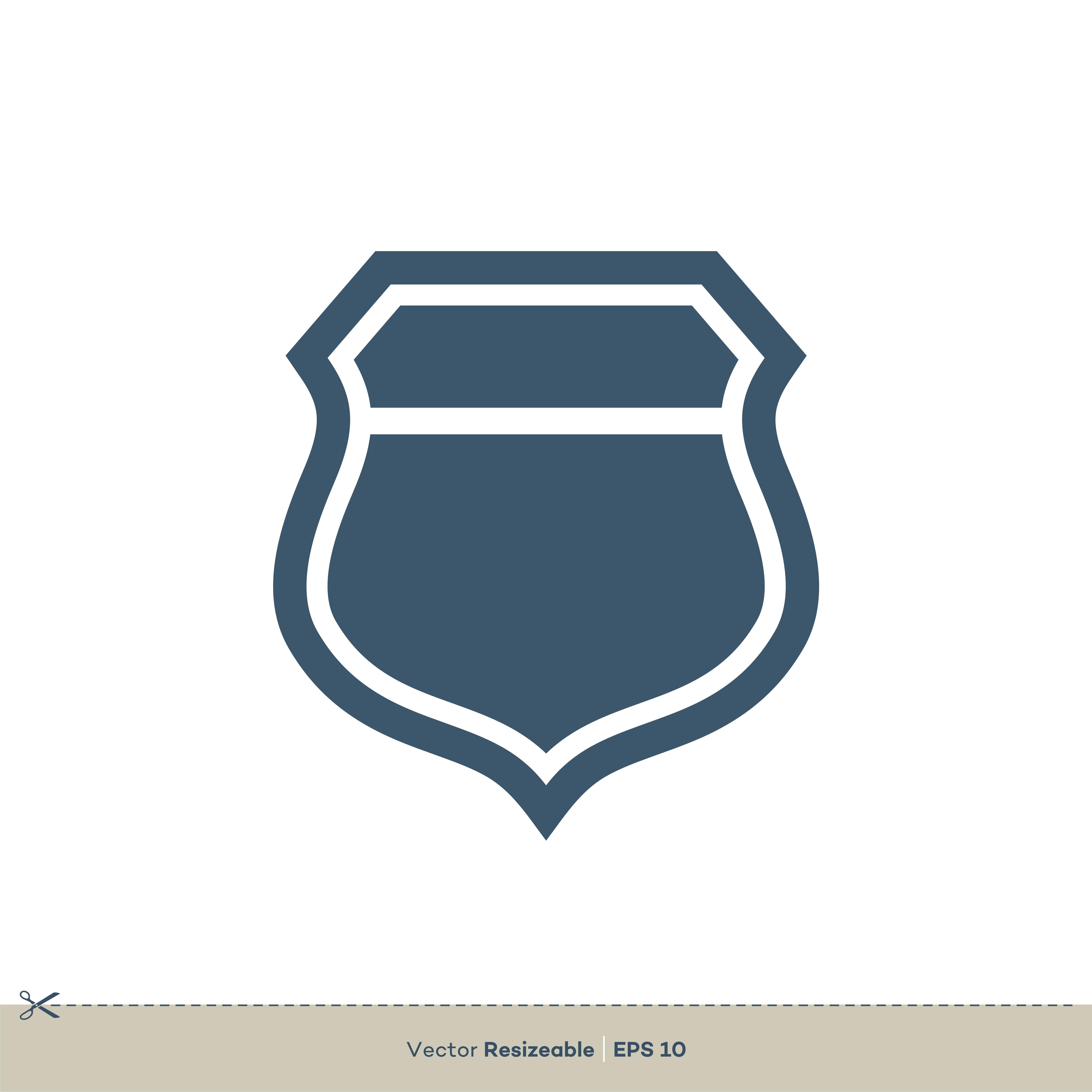 Shield Icon Vector Logo Template Illustration Design