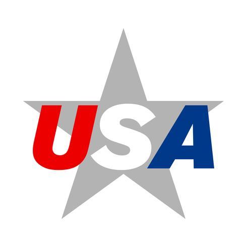 Icona di vettore del testo USA