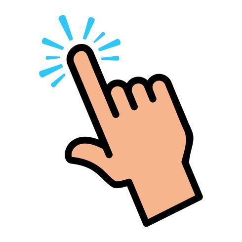Dedo toque Vector icono
