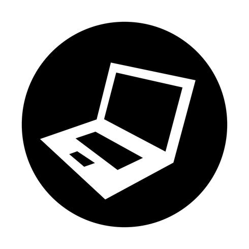 Laptop Computer Vector Pictogram