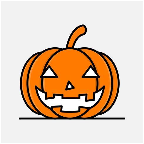 Estilo de arte de línea plana. Diseño de iconos de calabaza para halloween.