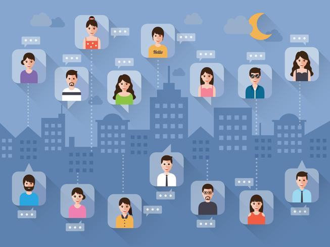 Social network people. vector