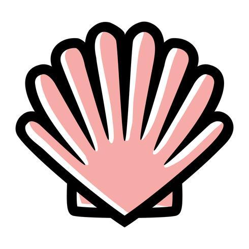icono de vector de concha