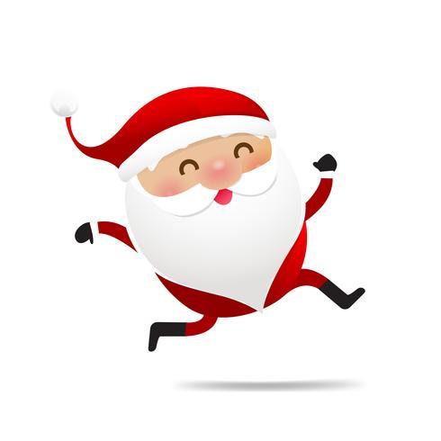 Happy Christmas character Santa claus cartoon 003 vector