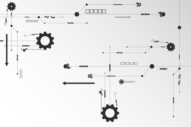 Tecnologia de fundo Vector no conceito de circuito.