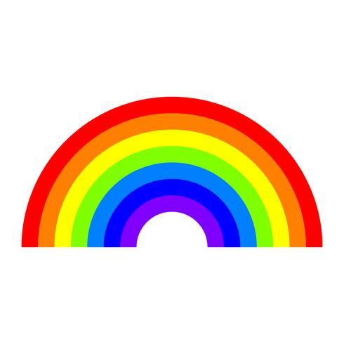 Ícone do vetor de arco-íris