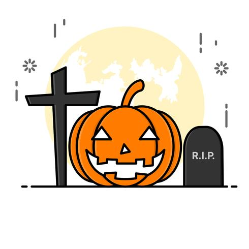 Flat line art style. design for halloween.  website and banner. vector