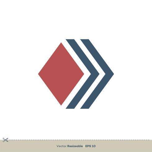 diamond shape vector logo template illustration design