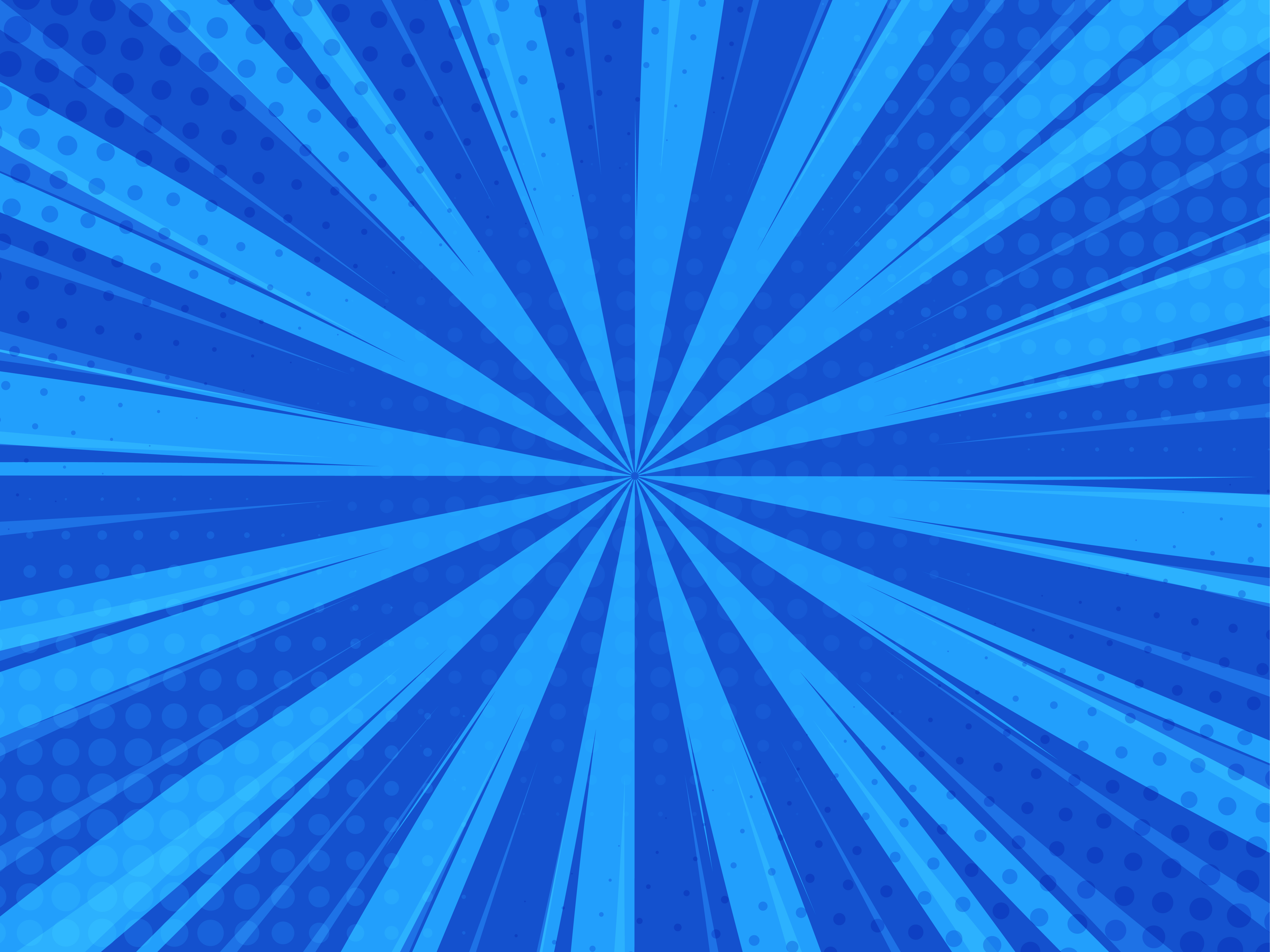 Blue Abstract Comic Cartoon Sunlight Background