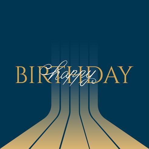 Tipografia Clássica Feliz Aniversário