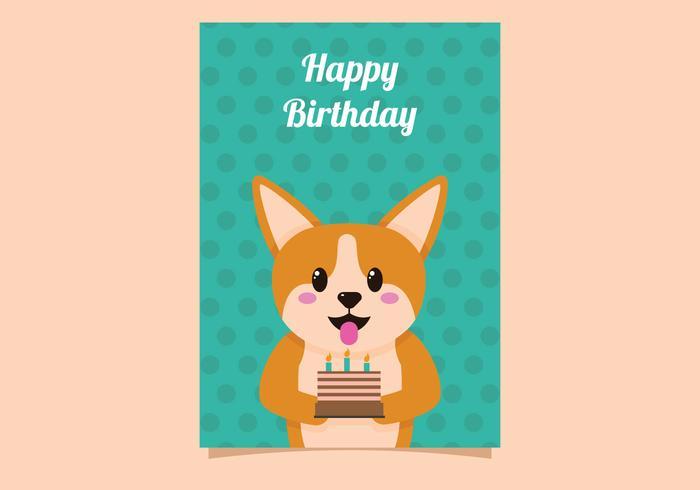 Presente de aniversário bonito do cão