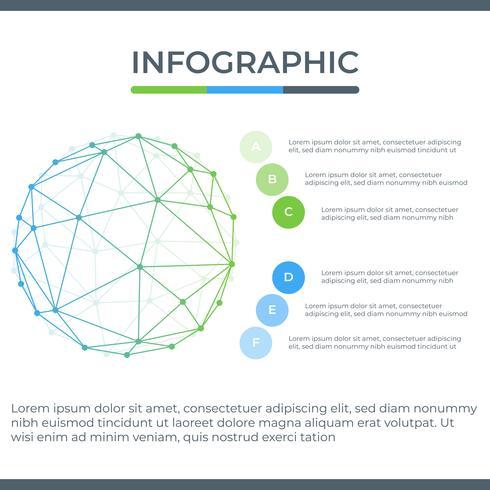 Zakelijke infographic. Infographicsdiagram met abstracte geometrische lijn. sjabloon voor presentatie.