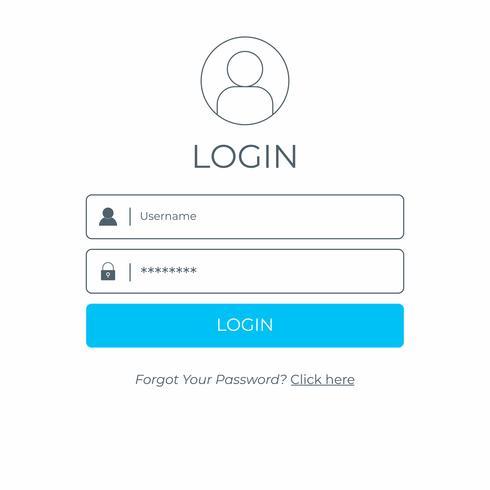 Faça o login e faça login na interface do usuário. Modelo de interface do usuário moderno site de negócios.