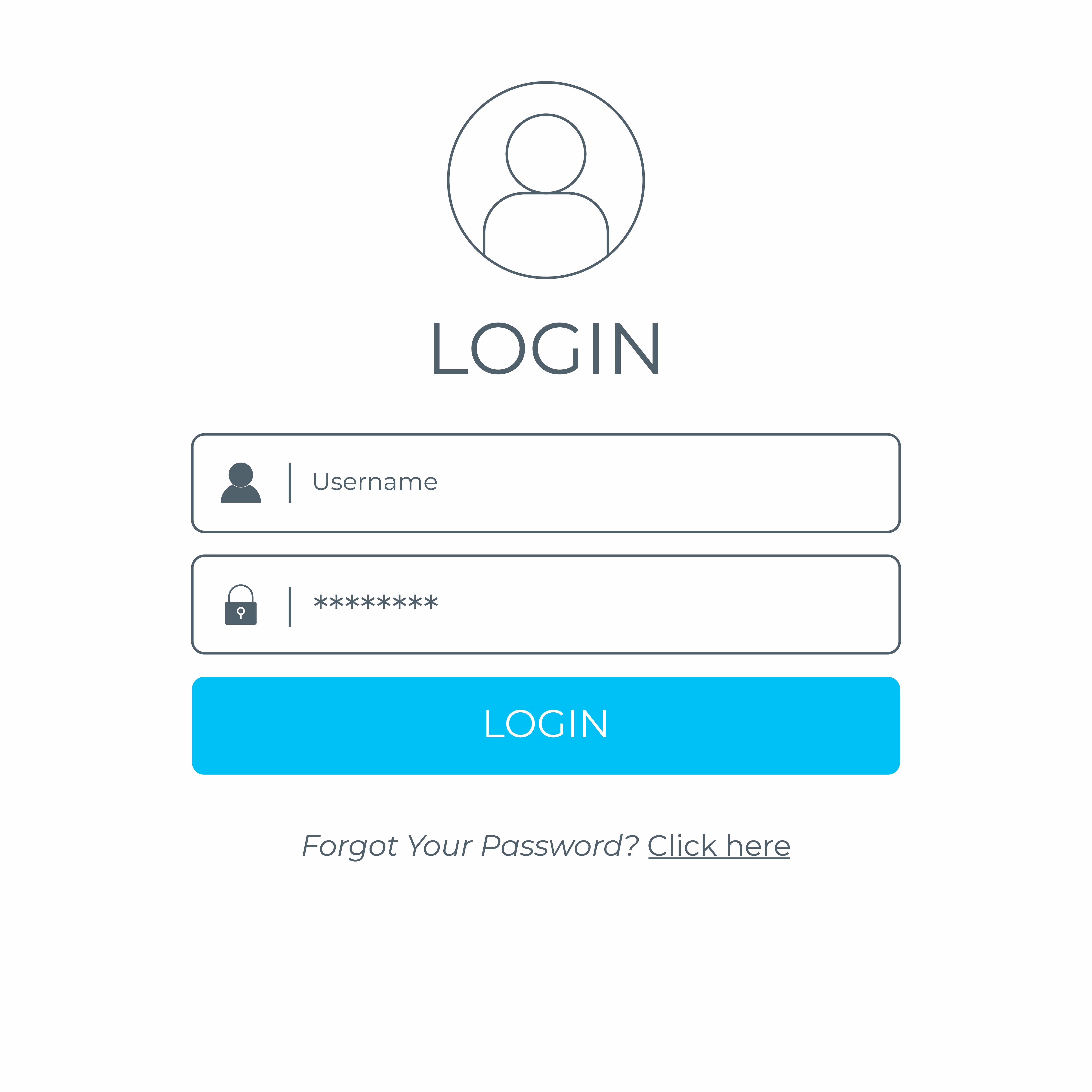 Login and sign in user interface. Business website modern