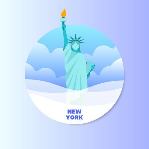 Frihetsgudinnan New York Landmark Illustration