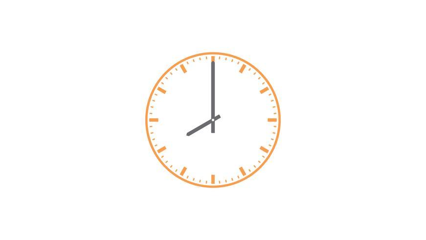 Clock Gliederungssymbole vektor