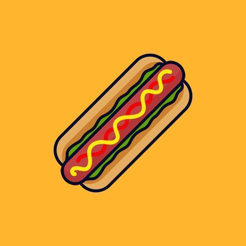 Hotdog vector illustration