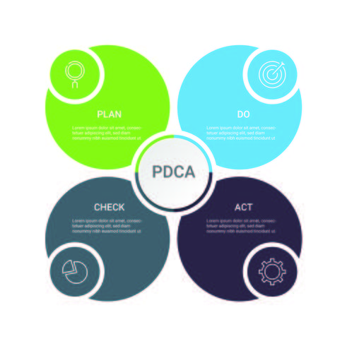 Infografía de negocios. Diagrama con 4 pasos, opciones o procesos. Plantilla de infografías para presentación.