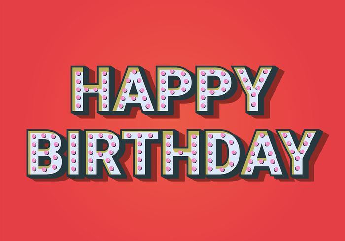 Buon compleanno tipografia in sfondo rosso