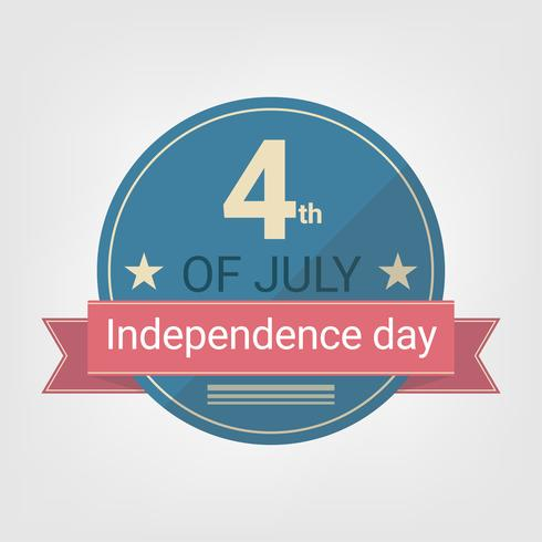 Flaches Design Independence Day Style Abzeichen