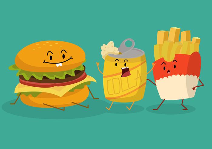 Grappige zomer voedsel karakter vectorillustratie