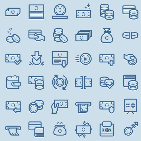 Business and finance icons. vector
