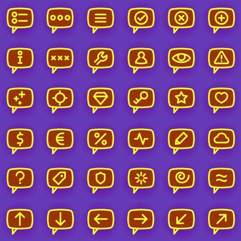 Ícones de mensagens vetor