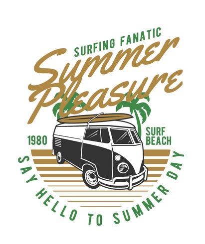 summer camper car, vector