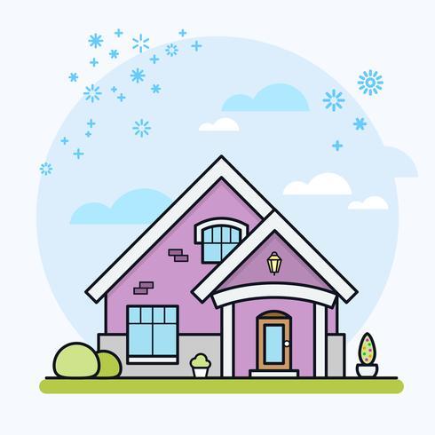 Huis vectorillustratie
