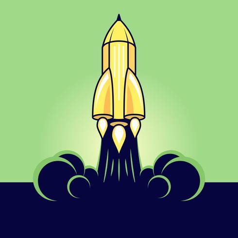 Lápis na forma de um foguete.