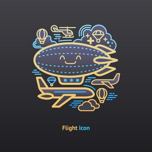 Vlucht pictogram vector