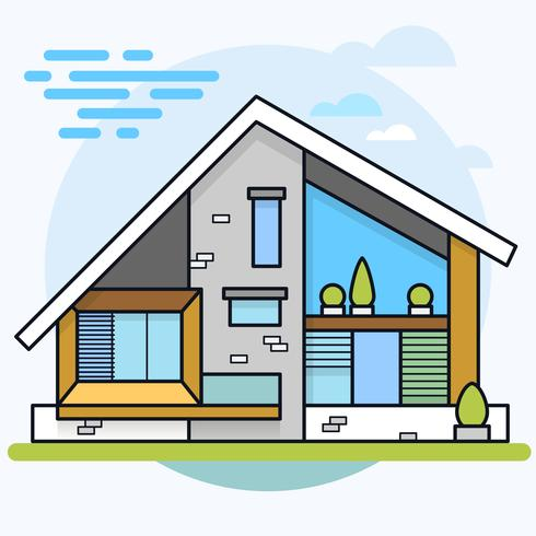 Vektor illustration av moderna hus.