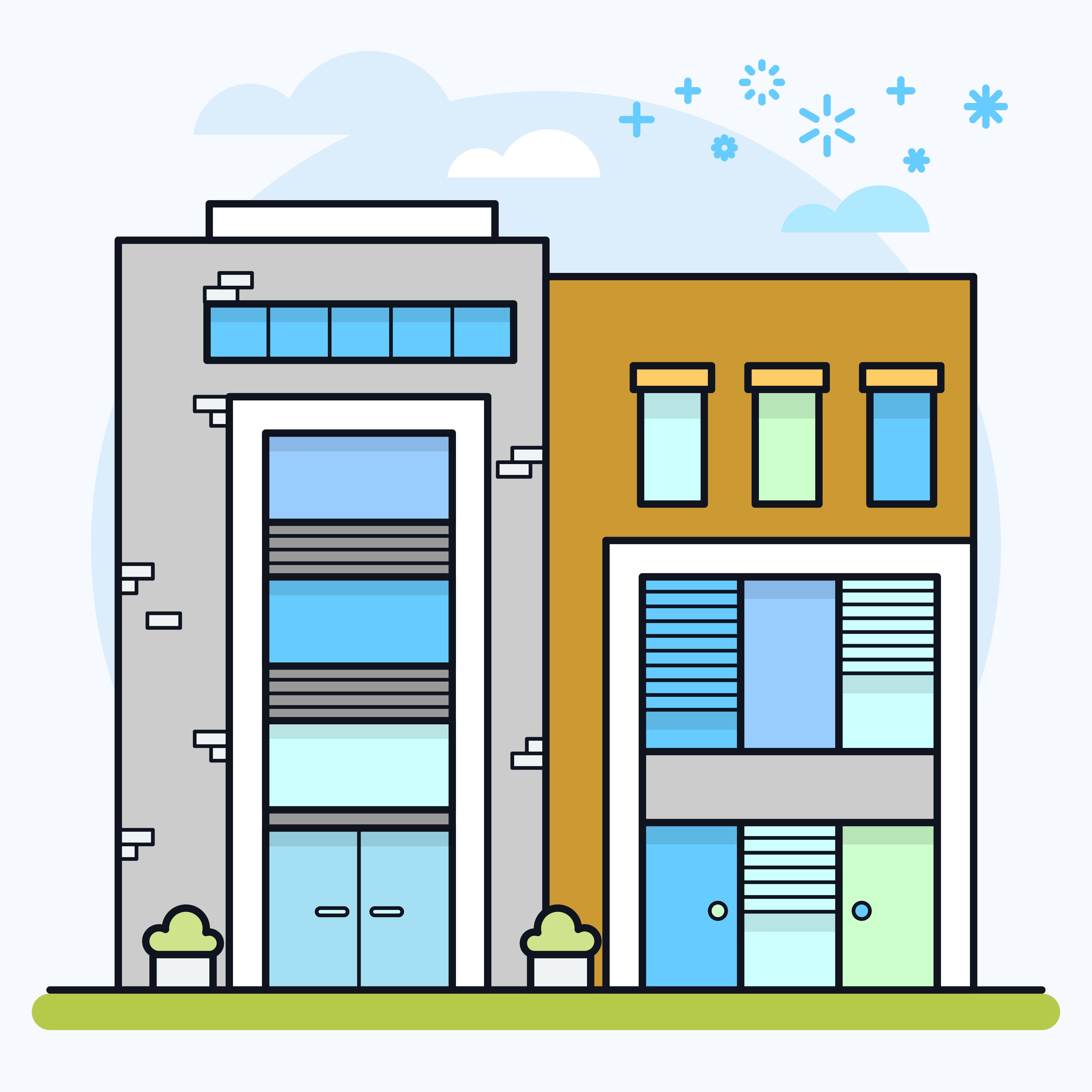 Condominium Apartment: Download Free Vectors, Clipart