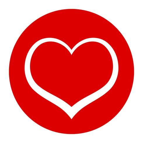 Gráfico de amor romántico de corazón vector