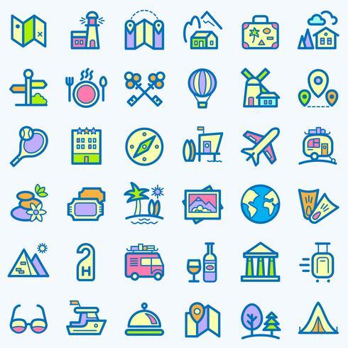 Travel icons set.