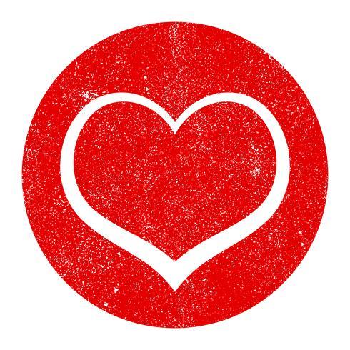 Gráfico de amor romántico de corazón