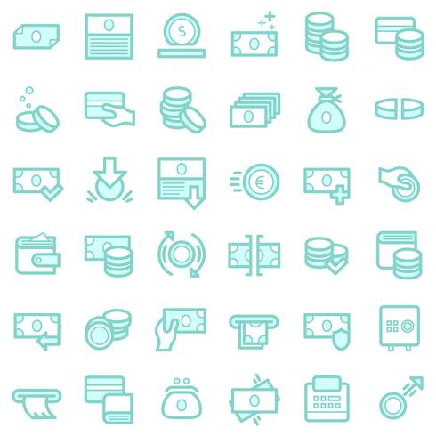 Conjunto de iconos de negocios y finanzas.