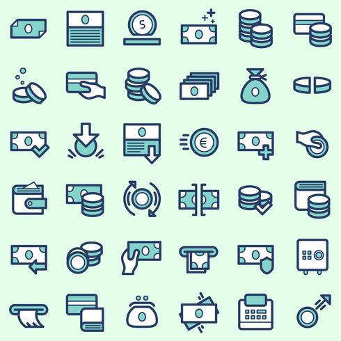 Icônes commerciales et financières vecteur