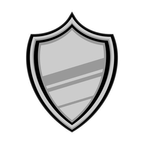 Shield crest vector icon