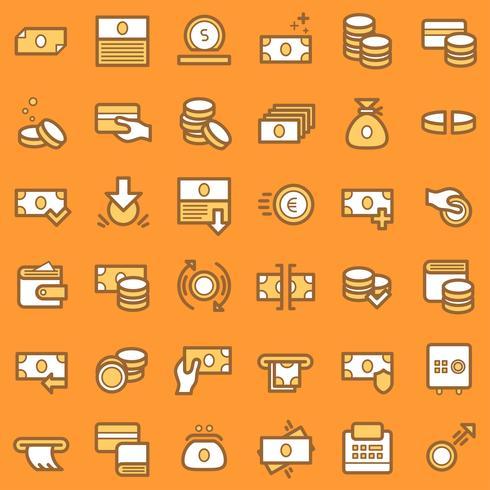 Set di icone di affari e finanza.