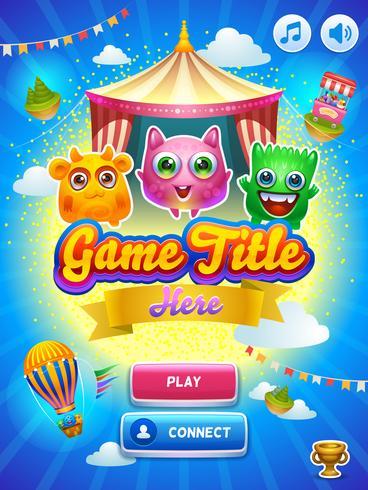 Game UI. Huvudskärm.