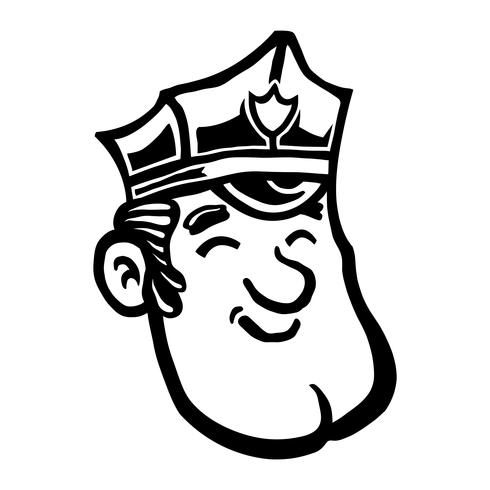 Policial policial dos desenhos animados
