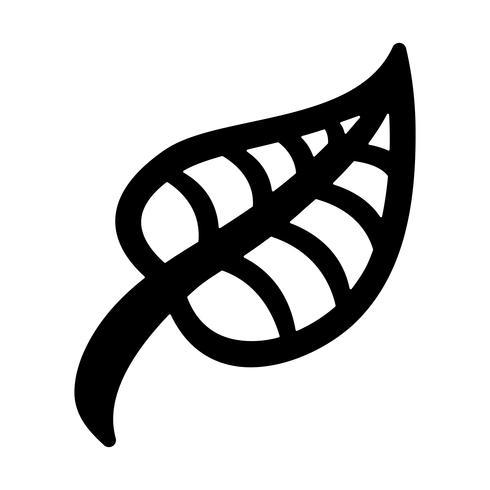 Groen blad vector pictogram