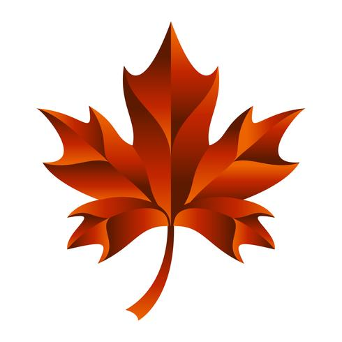 Autumn Maple Leaf-Vektor-Logo