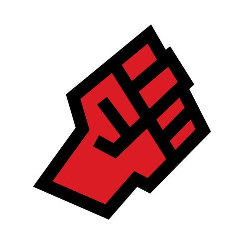 Icono de vector de puño levantado