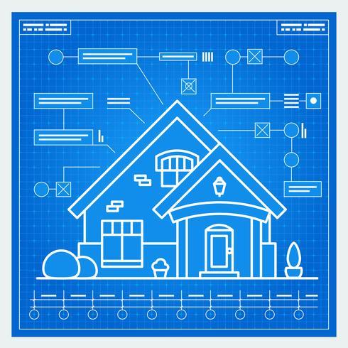 Huis blauwdruk